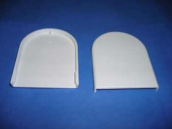 38mm ROLLER BLIND BRACKET COVERS 1 PAIR